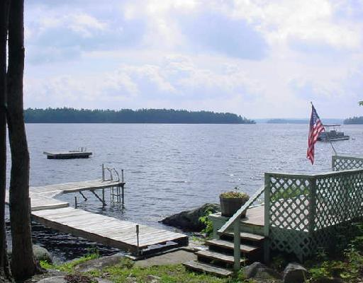Mr Lake Frontgreat Pond In Belgrade Maine Offers Great