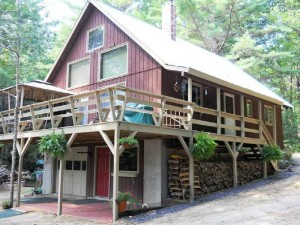 Turnkey Lakefront Chalet For Sale on Pristine Pequawket Lake, Limington, Maine