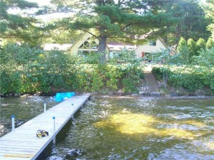Turnkey Lakefront Home with Bonus Guest House For Sale on Pristine Thompson Lake in Poland, Maine