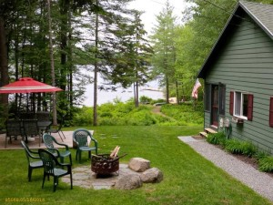 Serene, Scenic Surroundings at Lakefront Home for Sale on Long Lake, Harrison, Maine