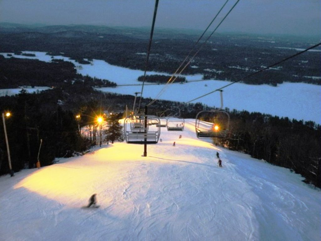 Maine Lakefront Real Estate:  Skiing in the Lakes Region